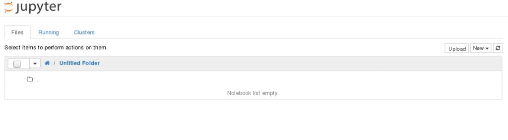 Jupyter Notebook, po uruchomieniu